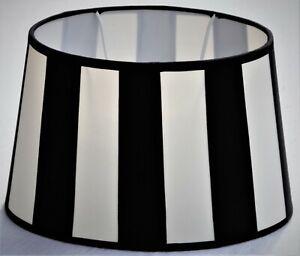 Chintz-Lampenschirm *oval* creme/schwarz im Kolonialstil 20cm , E27 unten