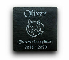 Personalised Engraved Slate Stone Pet Memorial Grave Marker Plaque Pet Hamster