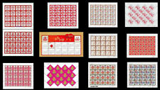 NY#1 to 11 China 2007-2017 Individualized Special-Use Stamp 12V Full S/S 賀喜大版