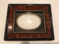19th Century 4x3 Small Miniature Mini Antique Photo Wooden Picture Frame C