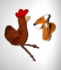 Sly Fox Little Red Hen finger puppets Nursery rhymes Fairy Story Plush Soft toy