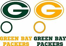 Green Bay Decal Set - 6 CORNHOLE Board Decals Vinyl Sticker Window Decal
