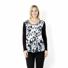 Fashion By Together Print Woven Front Panel Tunic Blue Multi Size 3XL BNWT