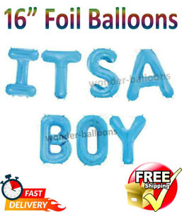 It's A Boy Bunting Banner New Baby boy Decoration New Arrival BABY SHOWER Foil