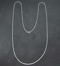 "10K Solid White Gold Double-Link Necklace Chain 20"" Inch Long Length"