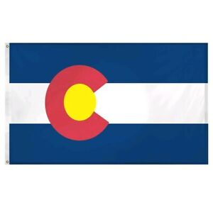 Colorado State Flag 3 x 5 Ft Polyester Open Box Fast Free Shipping