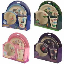 Bambootique Eco Friendly Design Childrens Dining Set - Bamboo BPA Free