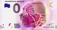 BILLET 0 ZERO EURO SCHEIN SOUVENIR NEANDERTHAL MUSEUM 2018-2