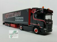 Herpa 311038 Scania CR 20 HD Gardinenplanen-SZ  Nottelmann Asphalt-Cowboys 1:87