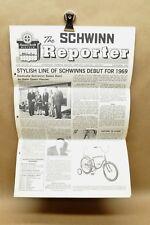 Vtg Schwinn Reporter Newsletter Nov 1968 1969 Model Preview Pea Picker Fastback