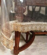 Ans Dinning table cover,transperent sheet six sitter Golden border