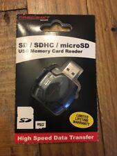 Precision Design SD/SDHC & MicroSD HC Card Reader with USB Adapter