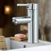 Robinets de salle de bain Mitigeur d'évier de lavabo Robinet chromé et 2 tuyaux