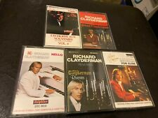 5 Richard Clayderman Cassettes piano Fur Elise Reveries Hello et son Liebestraum
