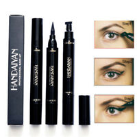 2 in 1 Winged Eyeliner Stamp Waterproof Makeup Eye Liner Pencil Black Liquid US