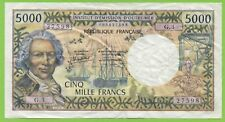 INSTITUT D'EMISSION D'OUTRE MER 5000 FRANCS ND PAPEETE