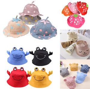 Girl Baby Summer Strawberry Cute Animal Straw Fisherman Hat UK