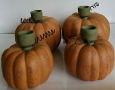 4 Midwest of Cannon Falls Halloween Fall Pumpkin Candle Holders