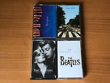 BEATLES / PAUL MCCARTNEY JOBLOT 4 CASSETTE TAPE ALBUMS - ALL EXCELLENT CONDITION