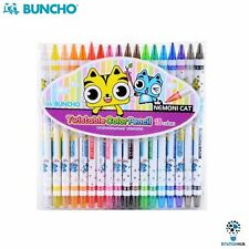 Buncho Twistable Colour Pencil | Arts Craft Kids Colouring | Pack of 18 Color