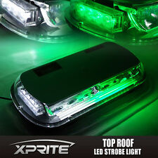 Green White 44 LED Roof Top Emergency Hazard Warning Flash Strobe Light 44W