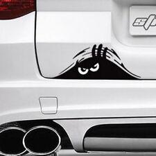 2pcs Black Peeking Monster Funny Cute Sticker Vinyl Waterproof Car Window Decal