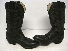 Vintage Hombres DURANGO Lea VAMP Zorro negro cowboy del Oeste Botas Tamaño 9