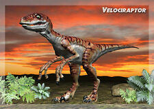 VELOCIRAPTOR DINOSAUR - 3D and Animated Lenticular Postcard Greeting Card