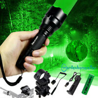 Tactical Green /Red Light LED Flashlight Torch Lamp Rifle Hunting Shooting Mount