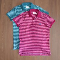 Lot of 2 Brooks Brothers Red Fleece Mens Polo Shirt Pink/Green sz M