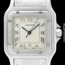 CARTIER SANTOS GALBEE Mens Midsize Unisex SS Steel Watch - Mint with Warranty