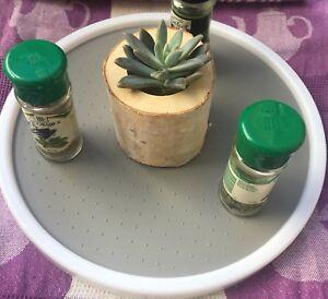 Organisor Multi Purpose Lazy Susan Grip Food Succulent Cosmetic Display Kids DIY