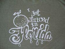 Vintage I Got JUICED In FLORIDA Tourist Punk Rock paper thin T Shirt Adult sz M