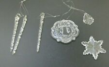 6- Beautiful Glass Christmas Ornaments (Wreath, Snowflake & More)