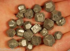 50g PYRITE CRYSTALS 20 Pieces Natural Rough Specimens Healing, Money, Good Luck