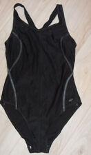femininer Badeanzug Gr. 38 mit Schwimmerrücken Schwimmanzug schwarz NEU
