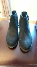 women's black ankle boots from graceland size 6 suede effect