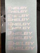 8pc set Ford Mustang Shelby Brake Caliper Vinyl Sticker Decal Logo Overlay White