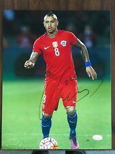 Chile Arturo Vidal Autographed Signed 11x14 Photo JSA COA #3