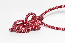 3m 3x1,5mm² Premium Design Textilkabel Rot/Weiß Gepunktet  Top EU Qualität