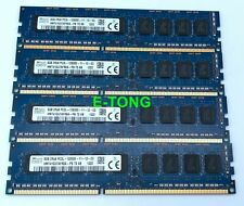 32GB 4x8GB SK hynix PC3L-12800 1.35V HMT41GU7AFR8A-PB ECC Unbuffered Memroy