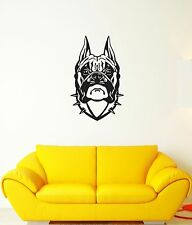 Wall Decal Bulldog Dog Pet Animal Head Thorns Friend Vinyl Stickers (ed094)