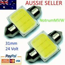 2pcs 24V Festoon 31mm COB LED White Light C5W Truck 4wd Caravan Bus Bulb Globe