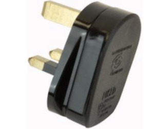 13 Amp Plug Tops Black 3A Fused 3 Pin Electrical Household Mains