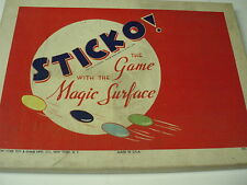Vintage Sticko The Game With The Magic Surface Board Game 1930's New York Toy