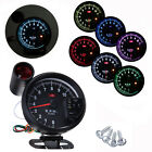 "5.1"" 11K RPM Adjustable 7 Color LED Tachometer Gauge Rev Counter & Shift Light"