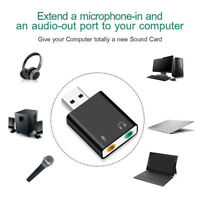 KF_ 3.5mm Jack External Sound Card Plug&play USB Audio Adapter PS4 Pi PC Noteb