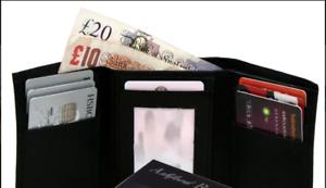 Real Leather Ashford Ridge Tri-Fold Wallet
