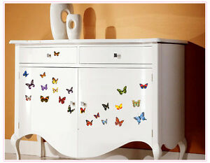Colorful 88 Transperent Butterfly Wall Stickers Mural Art Home Decoration UK