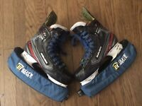 Bauer Vapor x2.9 Youth Hockey Skates Size 4 D INCLUDES ELITE HOCKEY BLADE COVERS